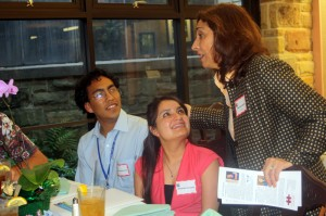 Patricia Moore speaks to students at international Latin america protocol workshop - Fort Worth Sister Cities