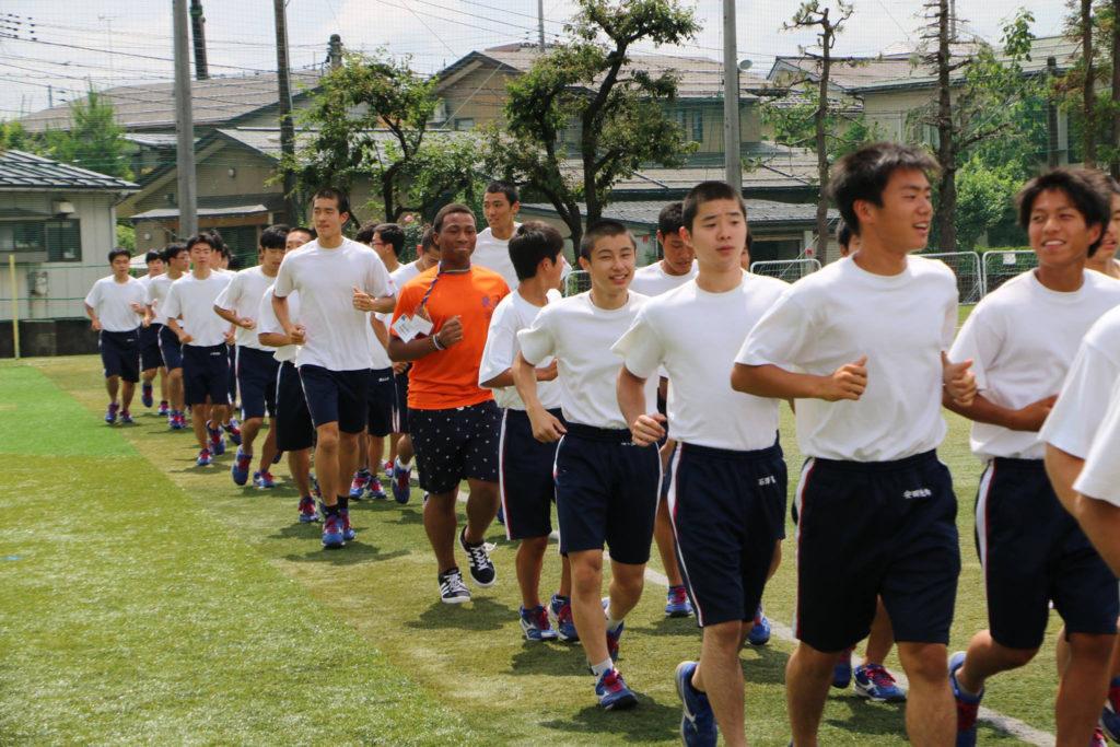 Running lap in Japan